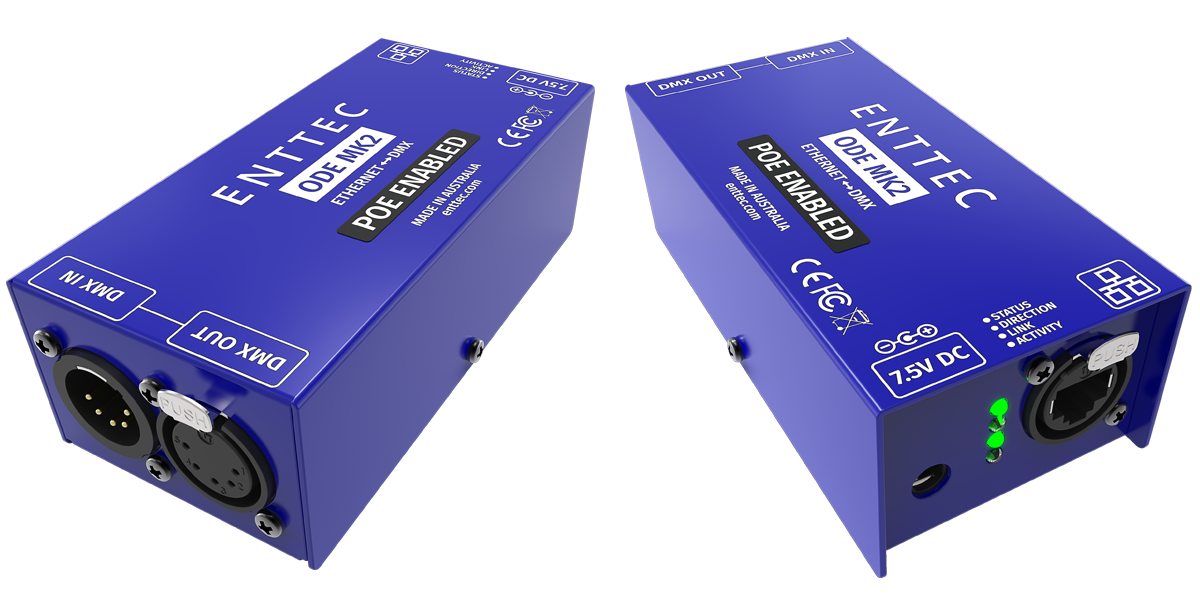 Power over Ehternet DMX interface
