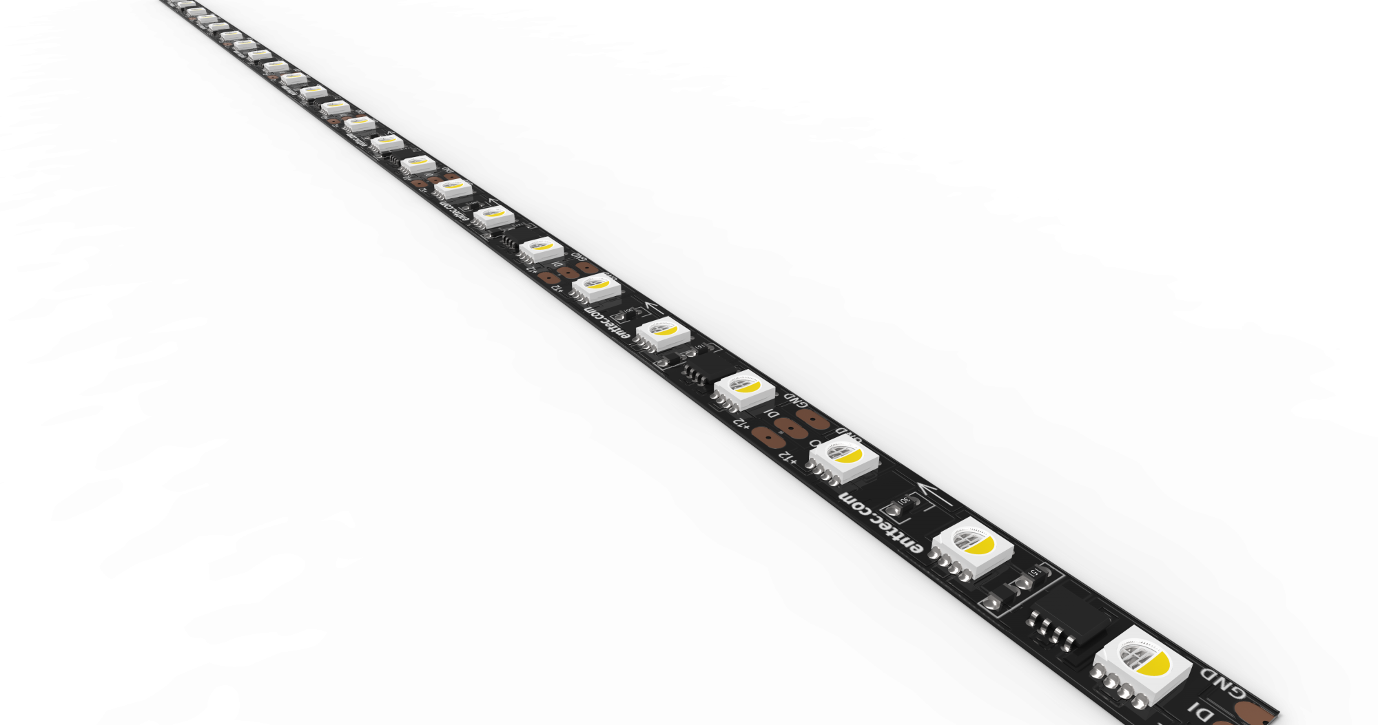 Black LED Pixel strip